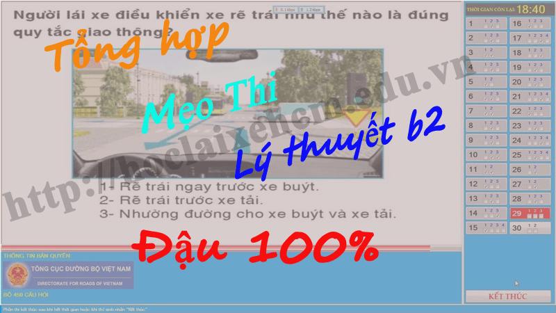 Mẹo thi lý thuyết lái xe ô tô B2 450 câu đảm bảo đậu 100%