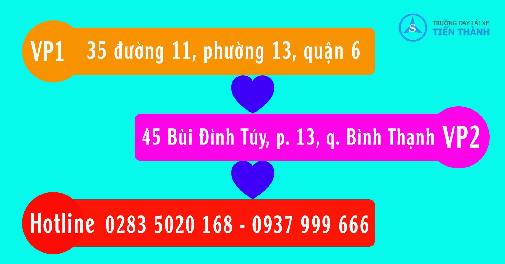 địa chỉ văn phòng ghi danh trường dạy lái xe quận Tân Bình